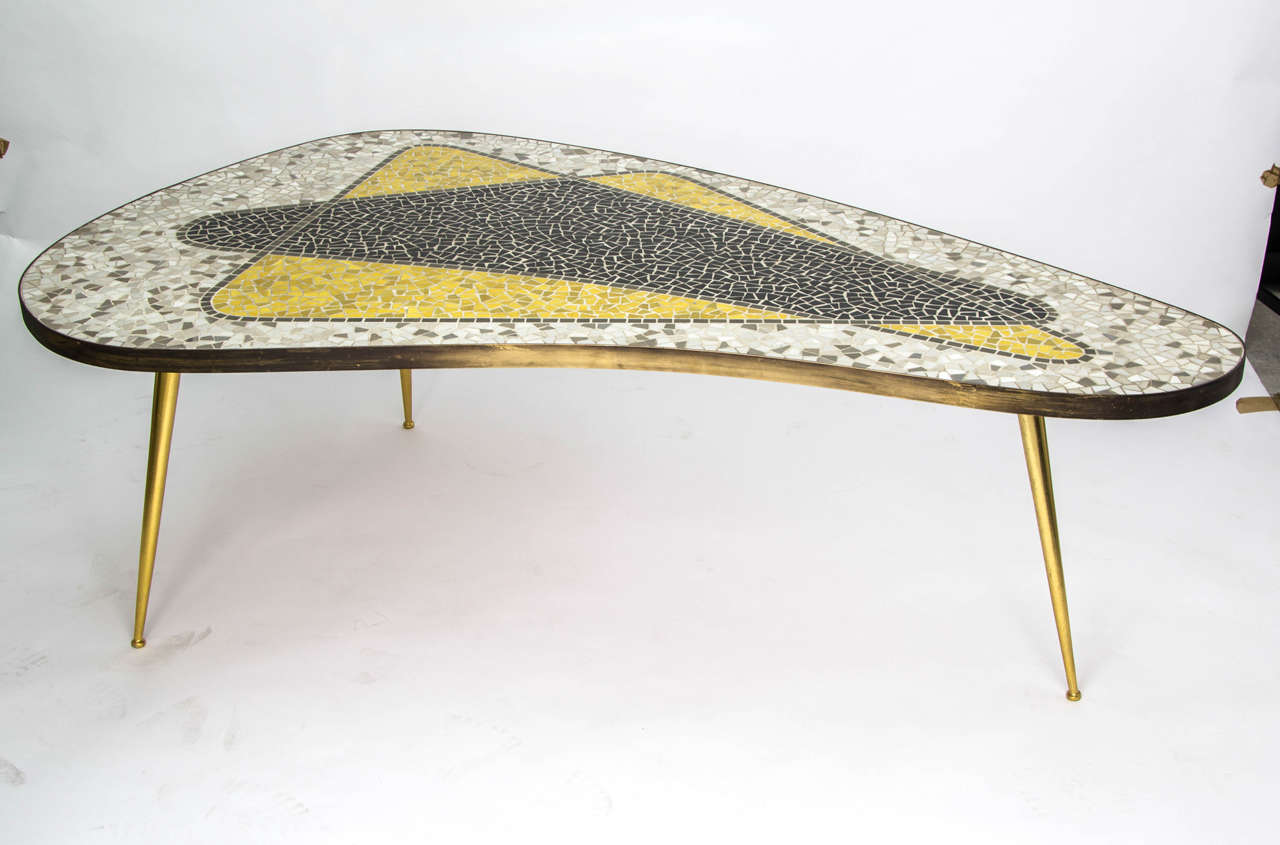 mosaic coffee table, germany 1950s at 1stdibs