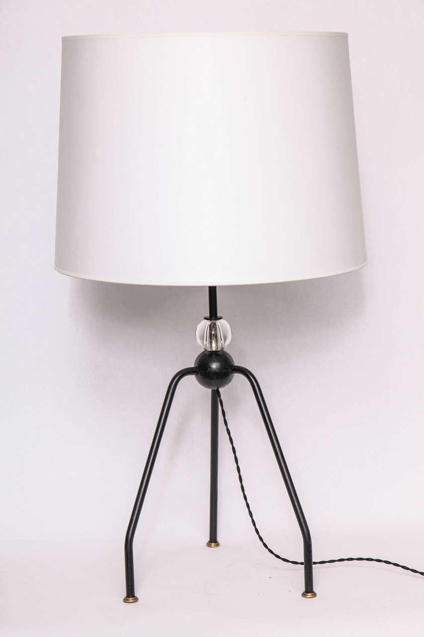 Table Lamps Art Moderne France 1940's New Sockets and Rewired Shades not included