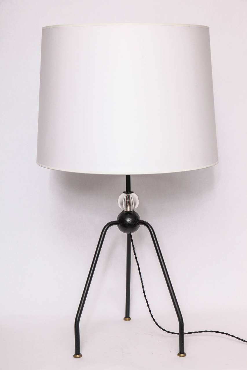Mid-Century Modern Table Lamps Art Moderne France 1940's For Sale
