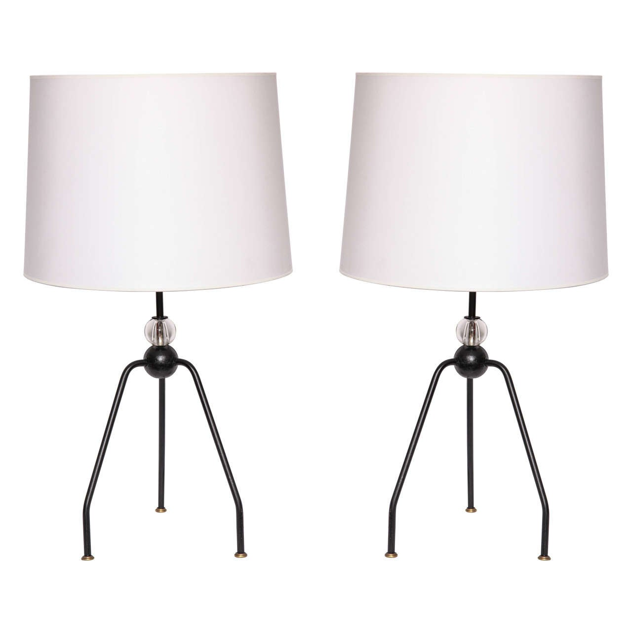 Pair of 1940s French Art Moderne Table Lamps
