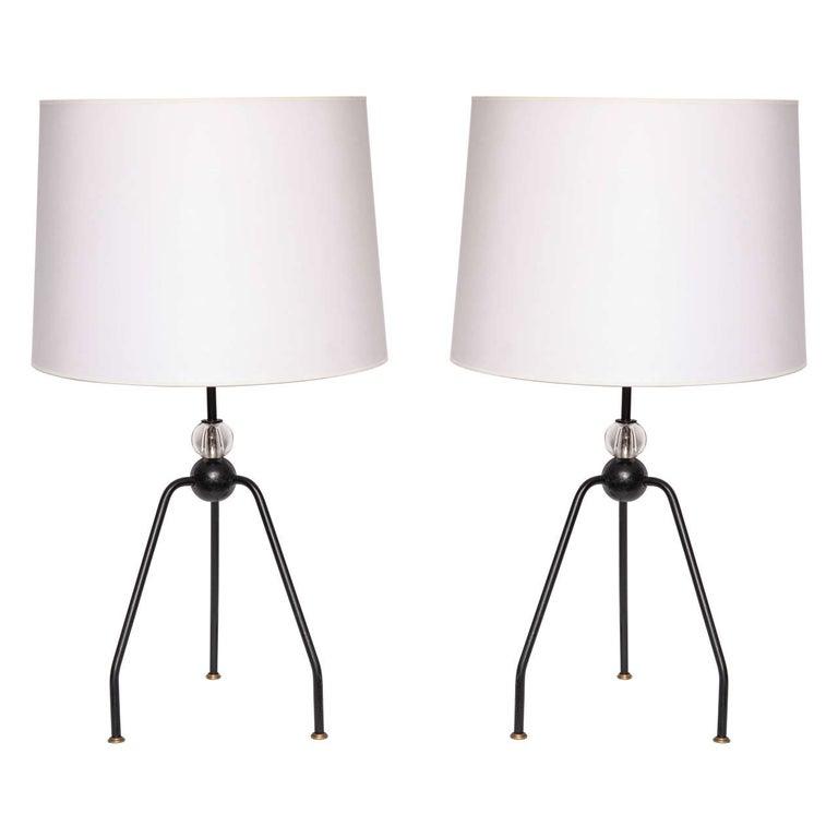 Table Lamps Art Moderne France 1940's For Sale