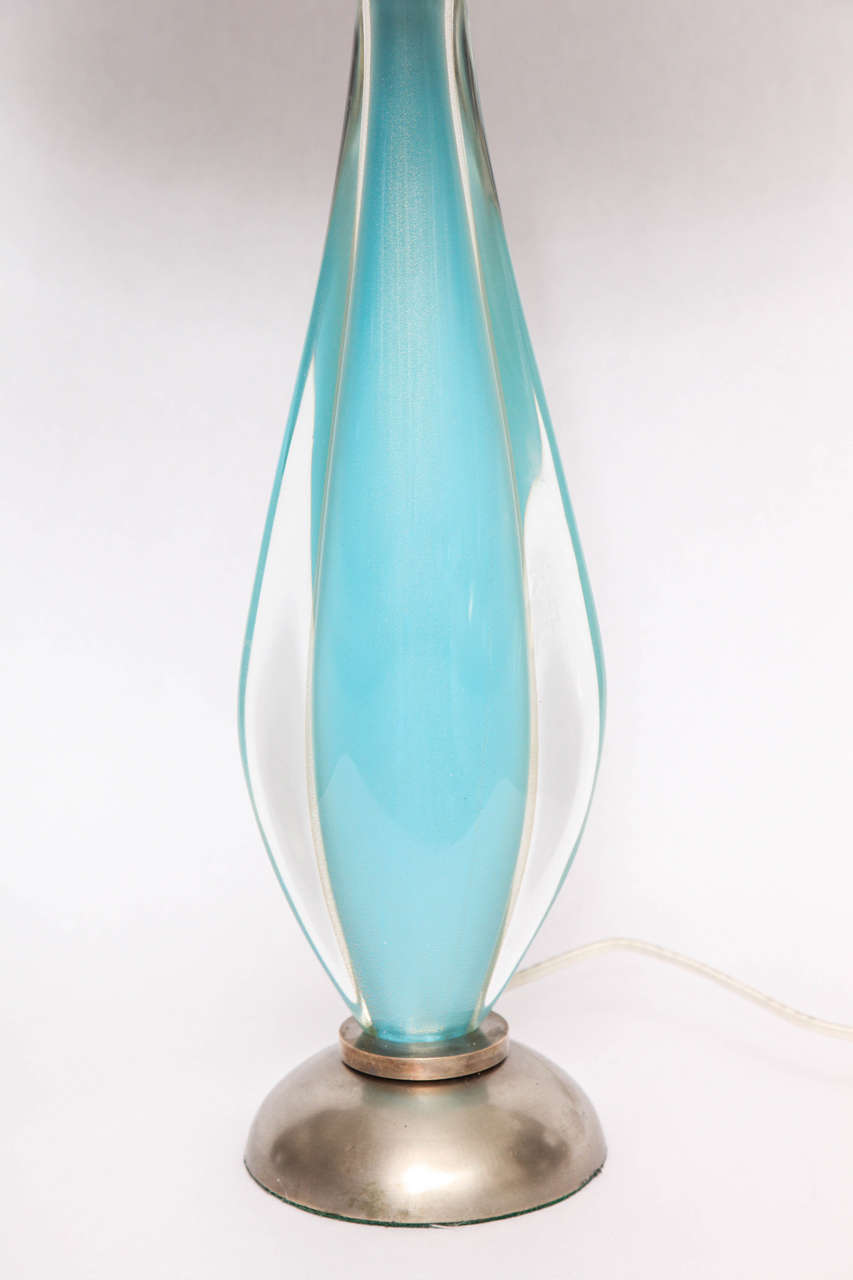 1960s Italian Art Glass Table Lamp By Salviati For Sale At 1stdibs