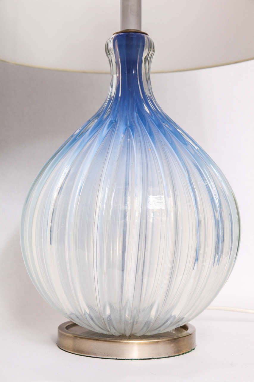Hand-Crafted 1950s, Italian Art Glass Table Lamp by Seguso For Sale