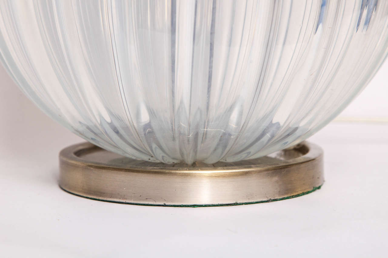 1950s, Italian Art Glass Table Lamp by Seguso In Excellent Condition For Sale In New York, NY
