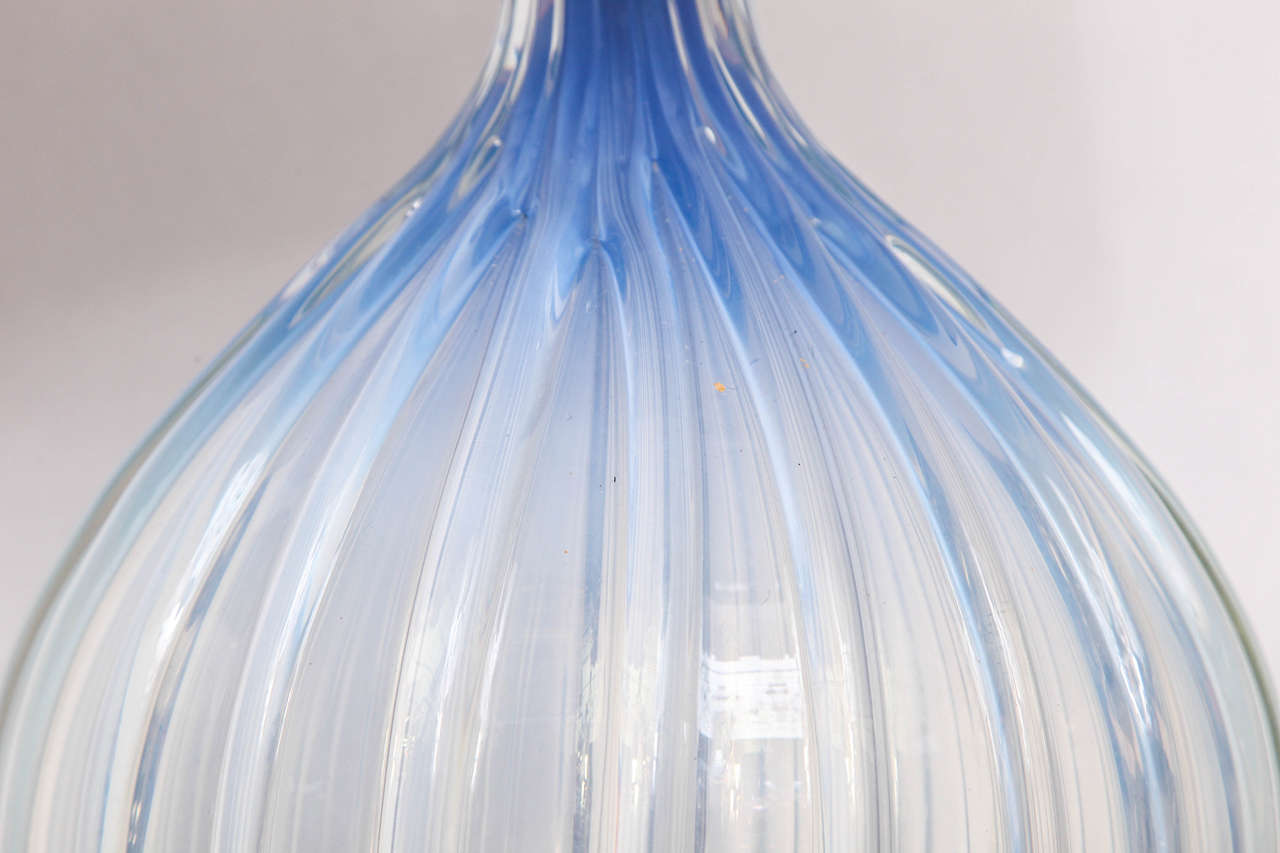 Mid-20th Century 1950s, Italian Art Glass Table Lamp by Seguso For Sale