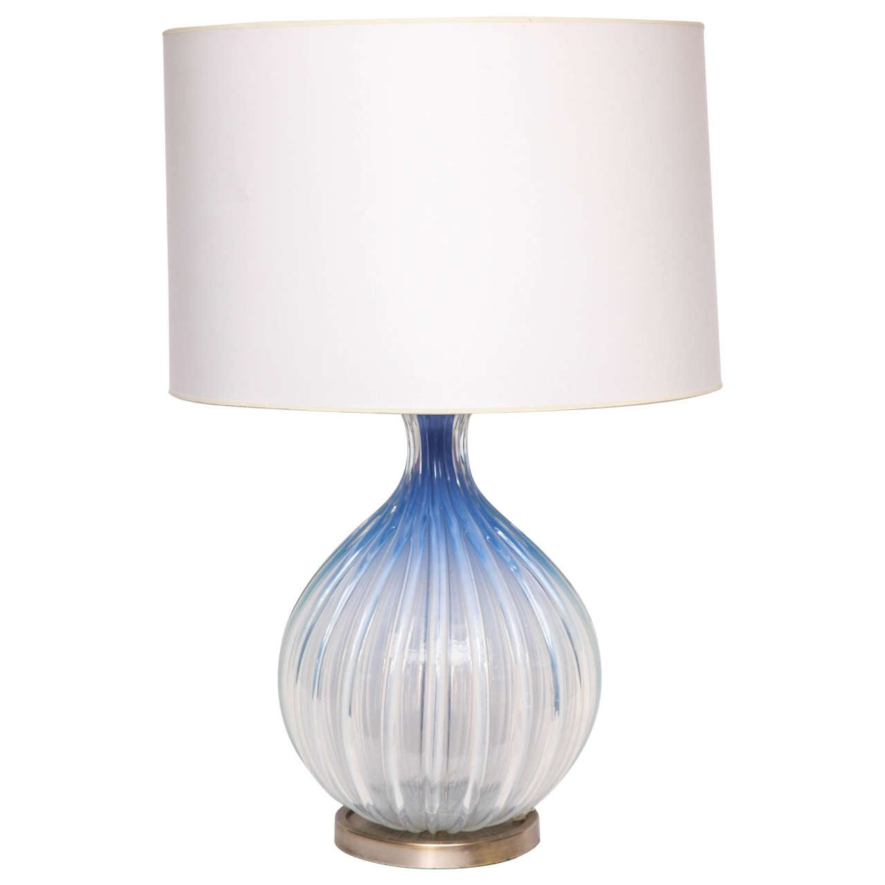 Seguso Table Lamp Murano Art Glass Italy 1950's For Sale