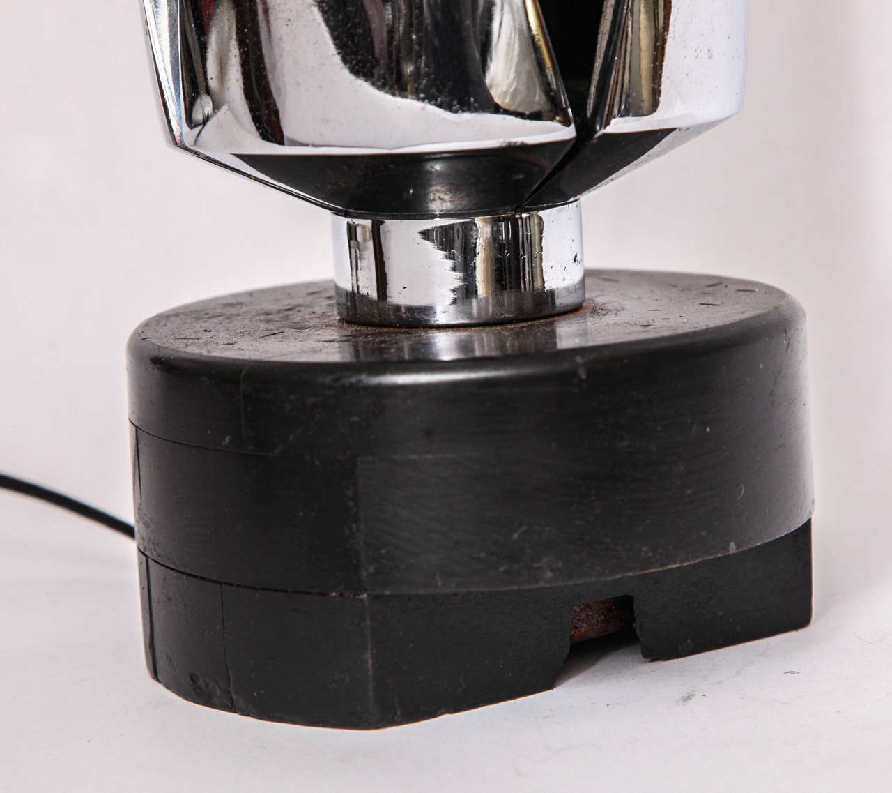 Polished Table Lamp Mid Century Modern Futuristic 1970's For Sale