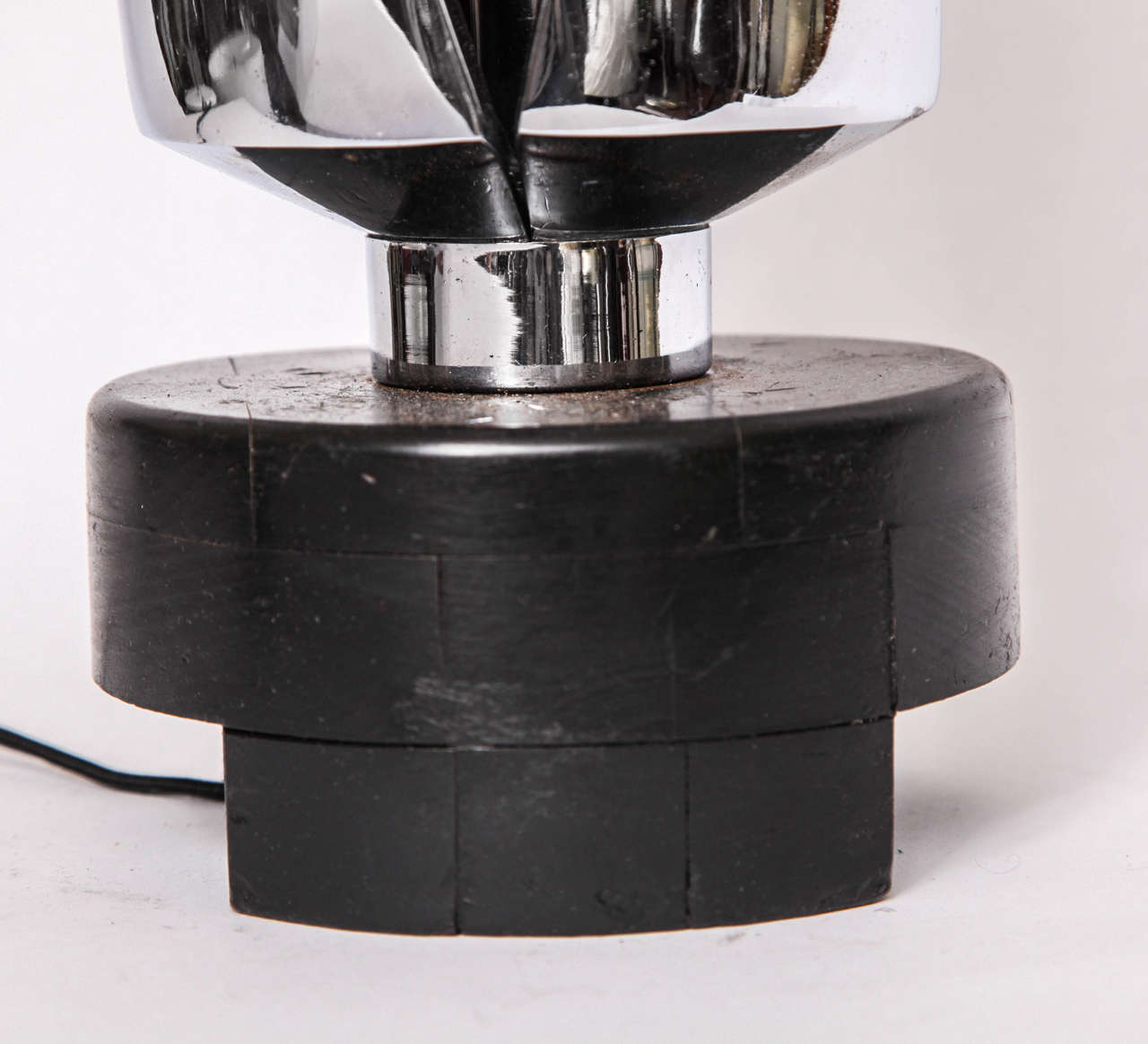 Chrome Table Lamp Mid Century Modern Futuristic 1970's For Sale