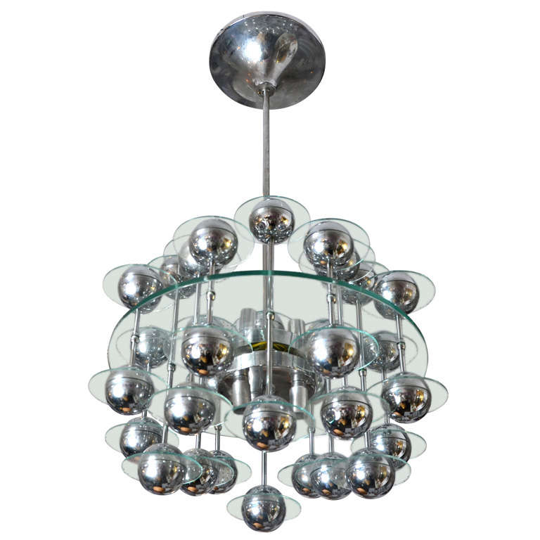 Fantastic 1970 39 S Chandelier In The Style Of Yonel Lebovici At 1stdibs