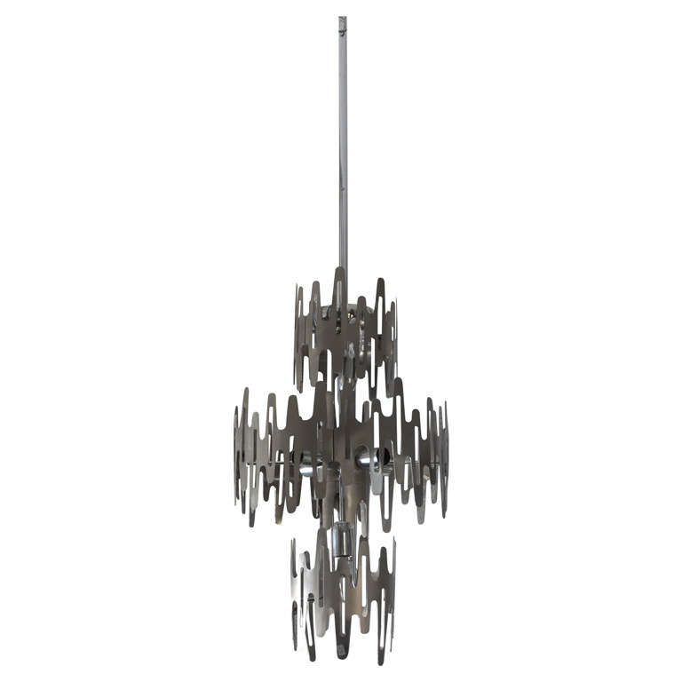 1970 S Very Rare And Stylish Chandelier At 1stdibs