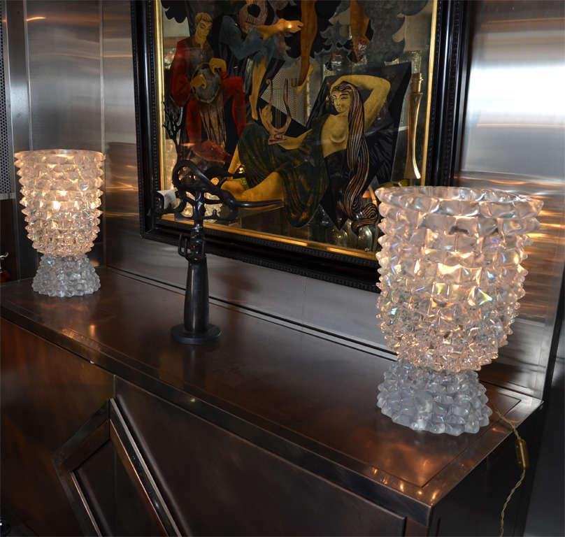 Pair of incredible Murano glass lamp.