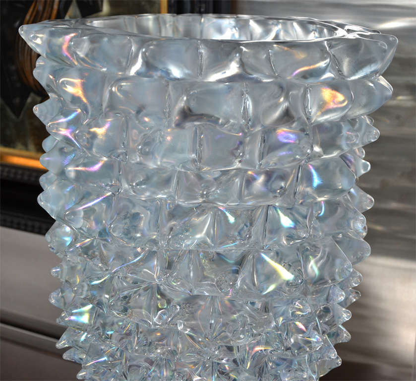 Huge Murano Glass Table Lamp in the Style of Ercole Barovier For Sale 2