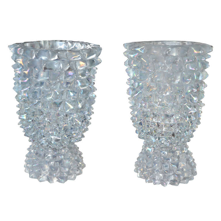 Huge Murano Glass Table Lamp in the Style of Ercole Barovier For Sale