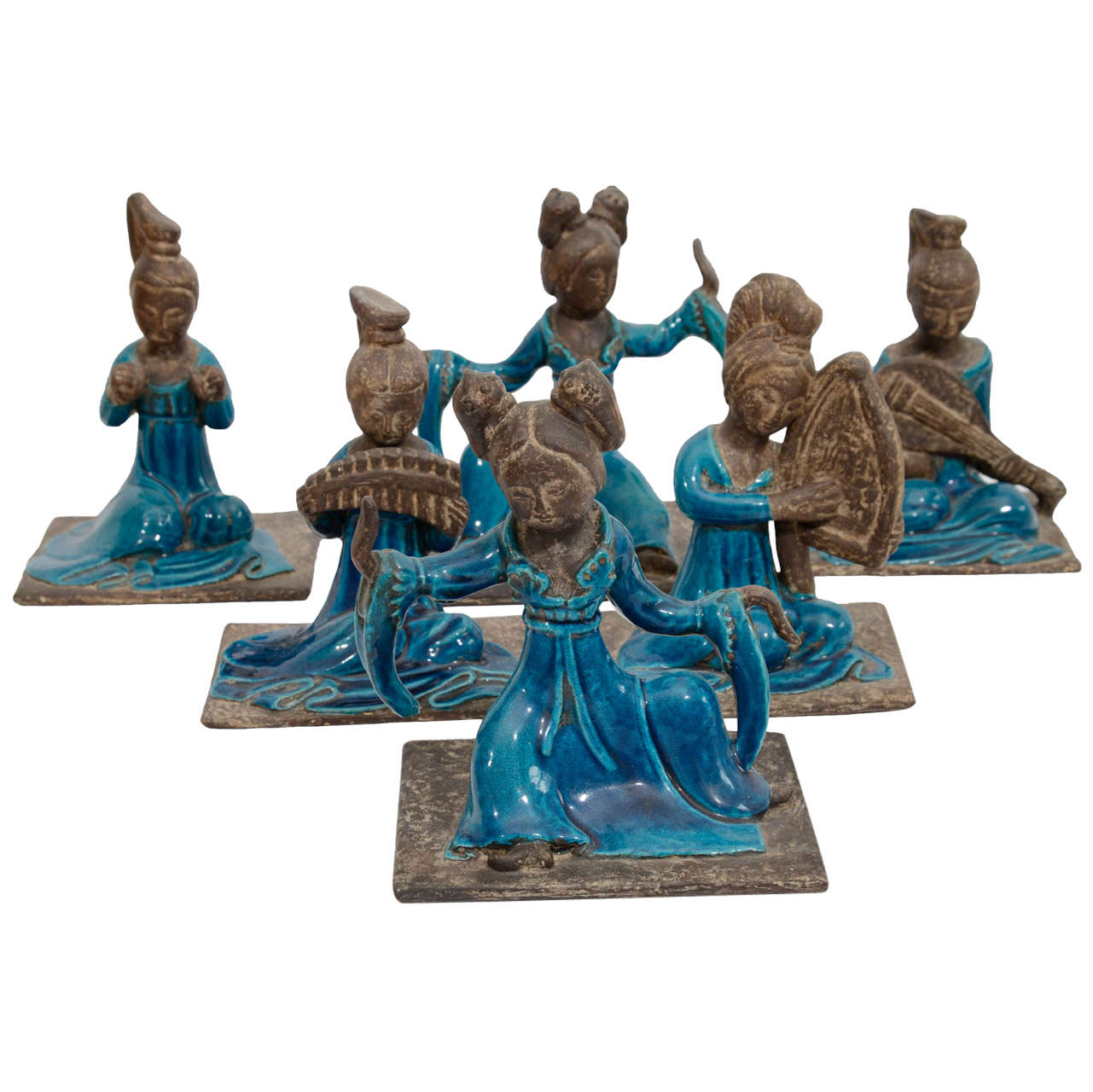 Chinese Court Musician Figurines by Zaccagnini