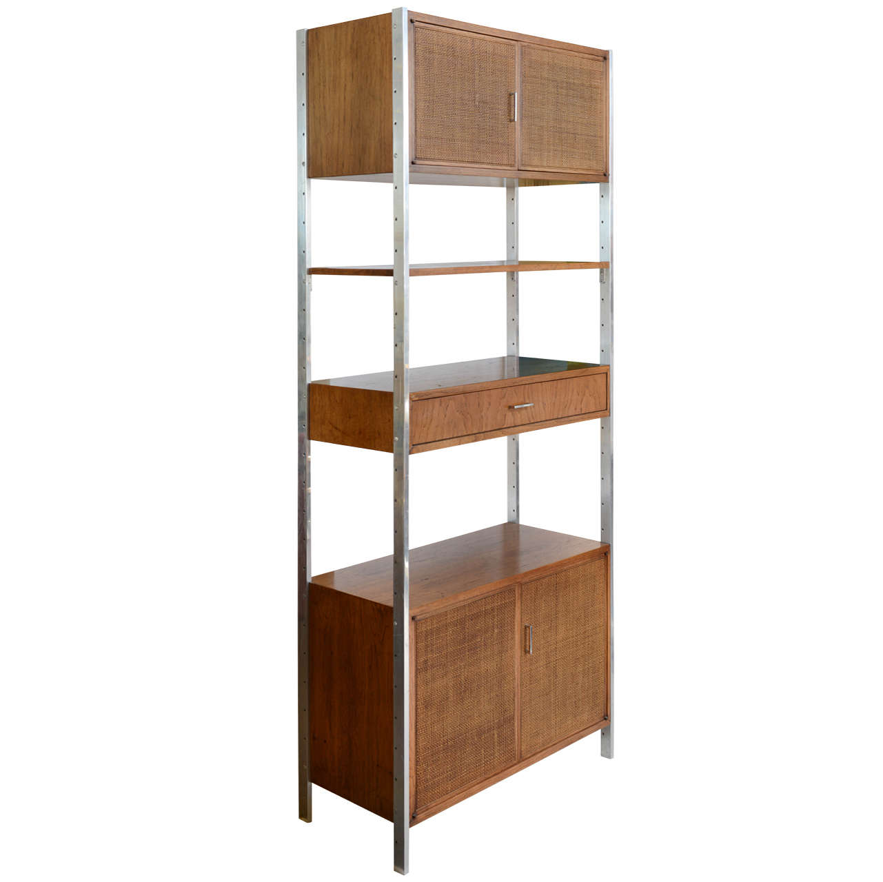 Tall Cabinet Freestanding Mid Century Eames Era For Sale