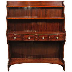 A Fine English Regency Metamorphic Book Case -Desk