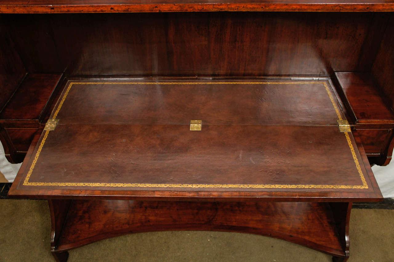 Brass A Fine English Regency Metamorphic Book Case -Desk For Sale