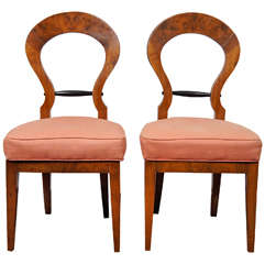 Pair of Italian Biedermeier Style Side Chairs