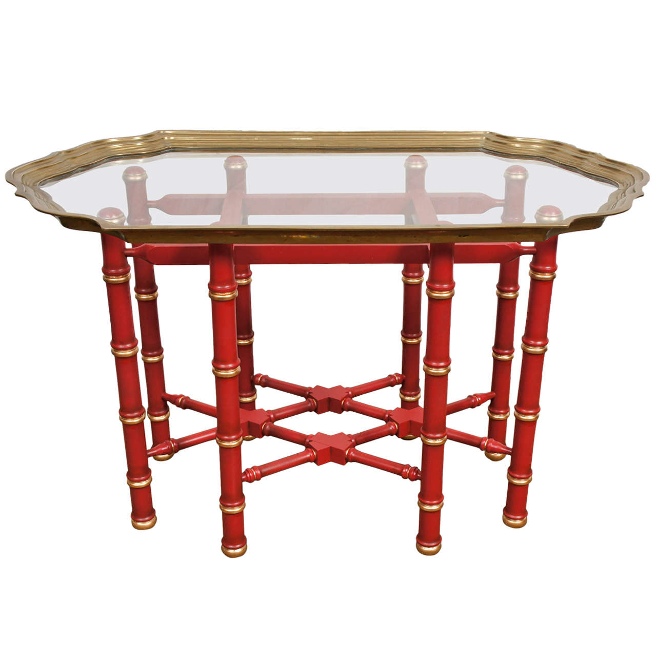 A Vintage Chinese Chippendale Style Coffee Table At 1stdibs