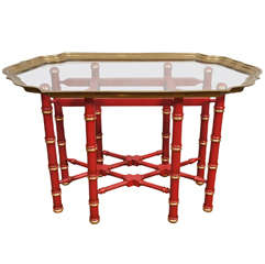 A  Vintage Chinese Chippendale Style Coffee Table