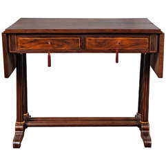 A Fine Germany Biedermeier Rosewood & Hollywood Inlayed Sofa Table