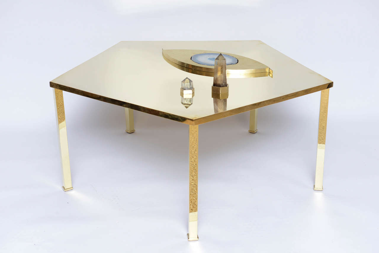 Sculptural Cocktail Table Eye Of Egypt For Sale At 1stdibs