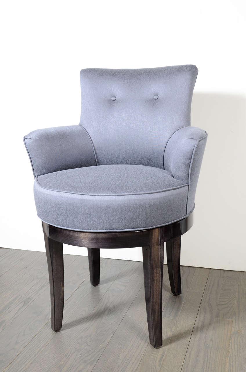 1940s hollywood swivel vanity stool chair at 1stdibs - Tall vanity chair ...