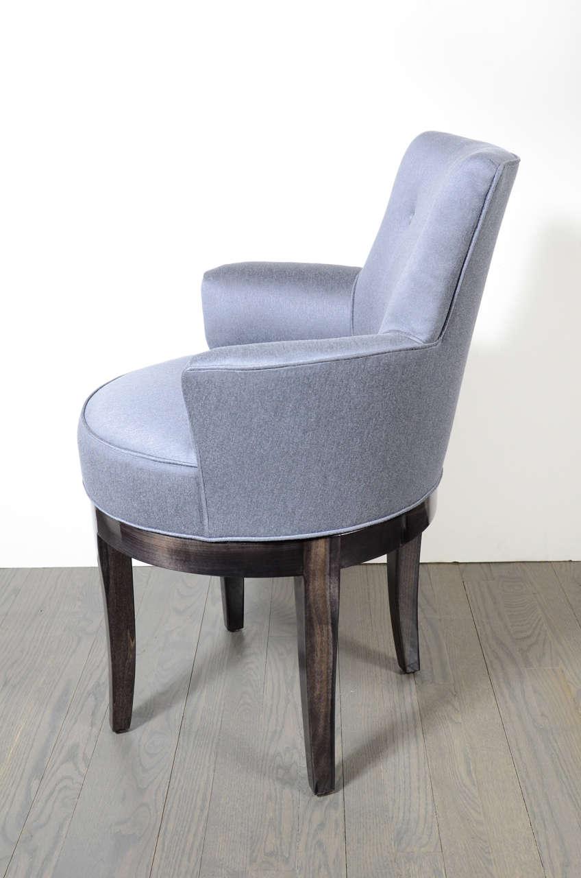 1940s Hollywood Swivel Vanity Stool Chair At 1stdibs