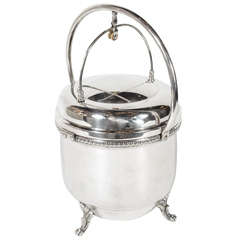 Elegant Art Deco Footed Ice Bucket & Accessories