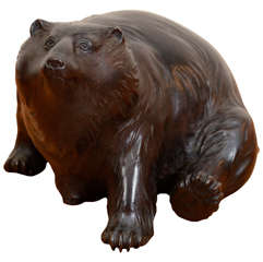 Japanese Meiji Bronze Bear