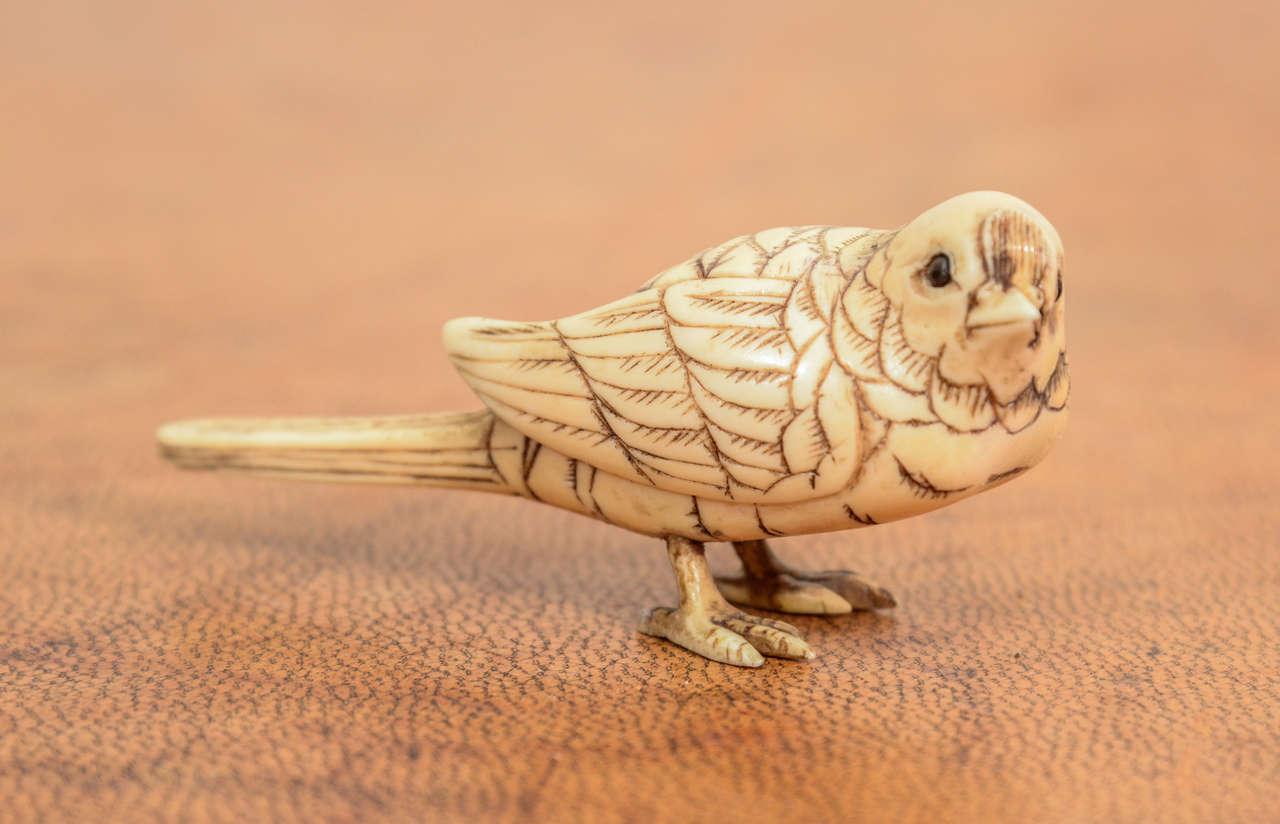 Japanese Meiji Okimono of Bird 2