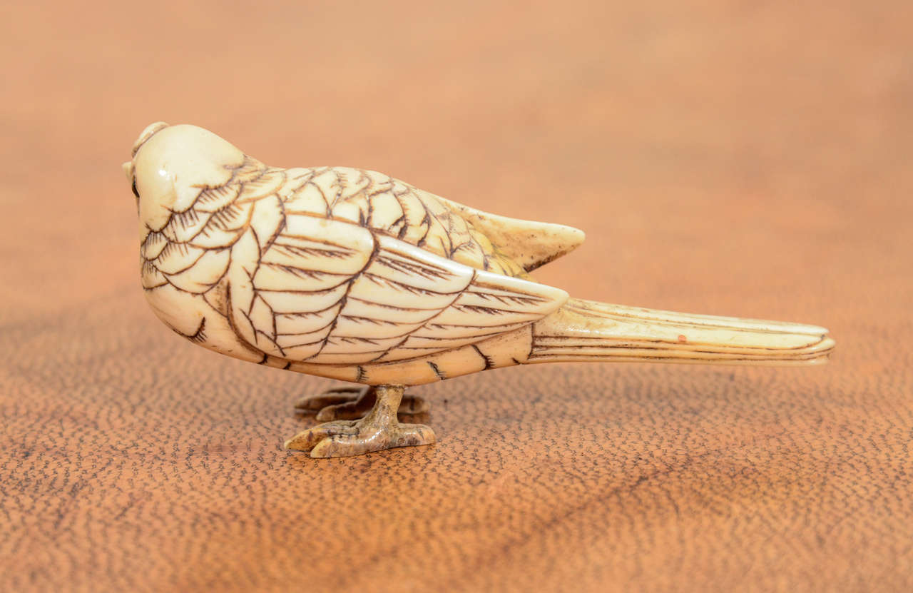 Japanese Meiji Okimono of Bird 4