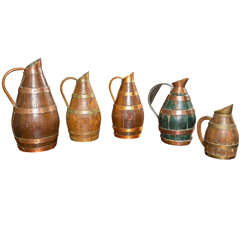 A Collection of French Cider and Wine Jugs