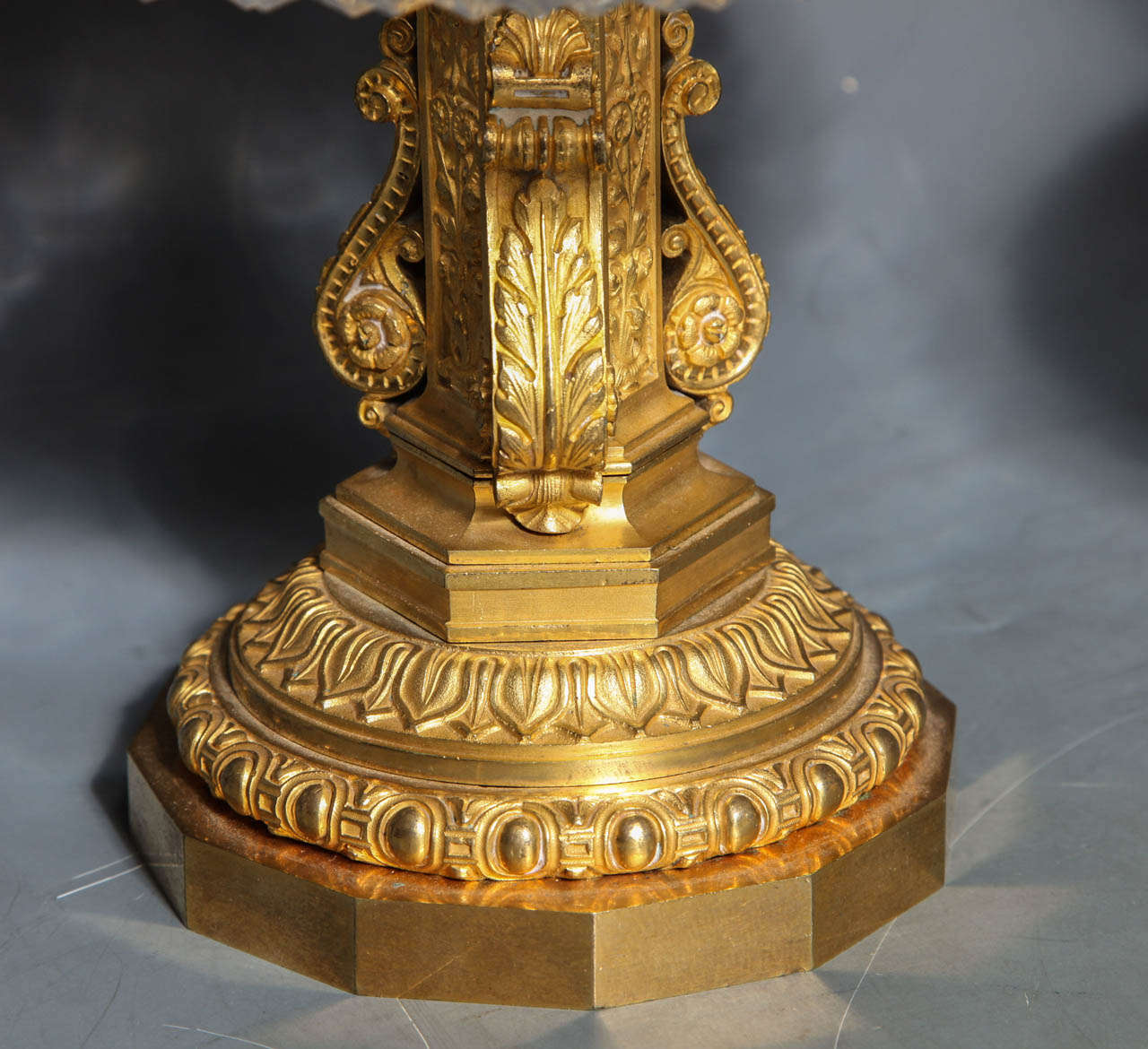 19th Century Pair of Antique French Two Tiered Tazzas or Centerpieces by P. Philippe Thomier For Sale