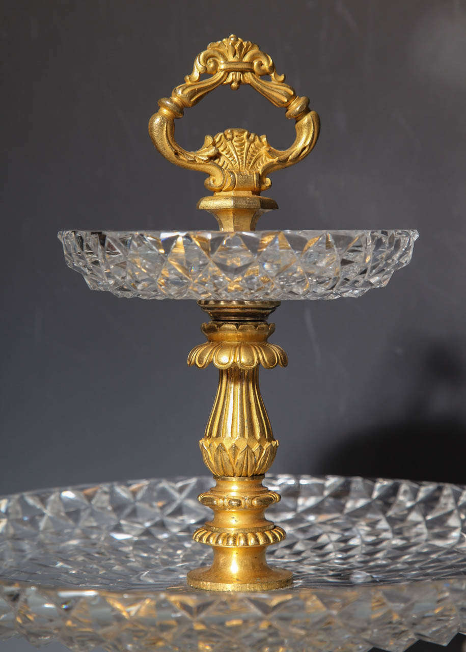 Pair of Antique French Two Tiered Tazzas or Centerpieces by P. Philippe Thomier For Sale 2