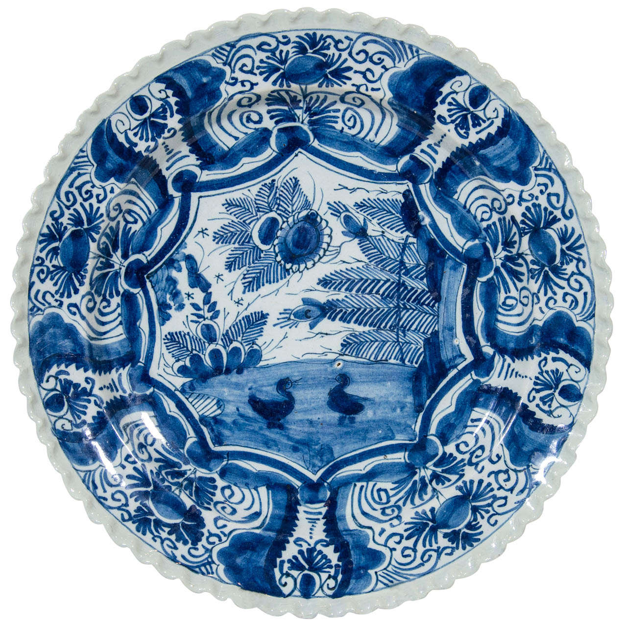 An 18th Century Blue And White Dutch Delft Charger At 1stdibs