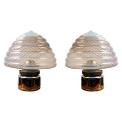 Impressive Pair of 1980's Lamps by Leucos