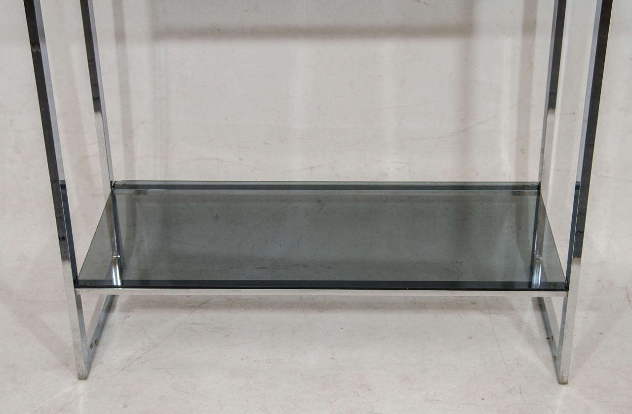 Handsome chrome etagere with gray glass shelves at 1stdibs - Etagere 6 cases ...