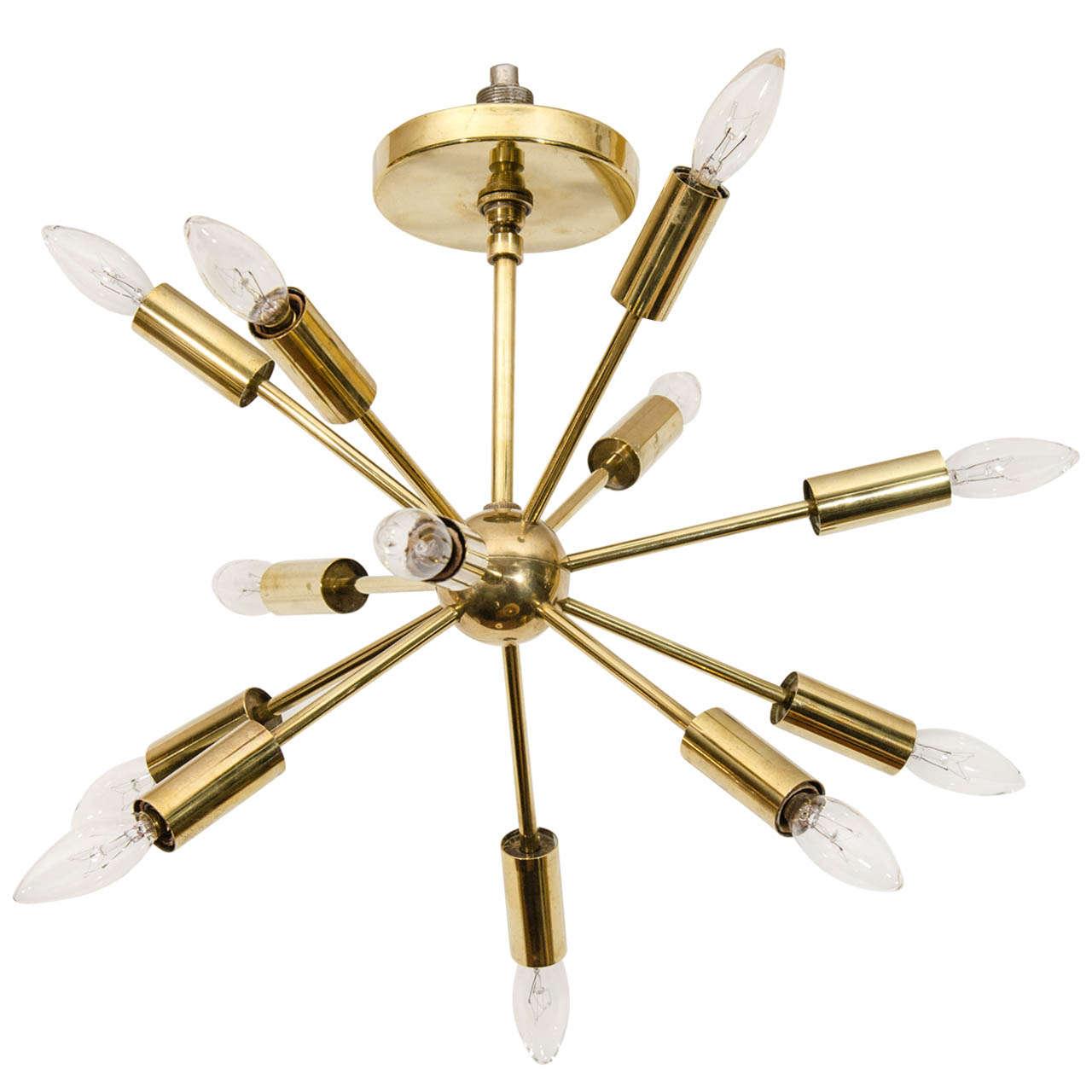 Charming Small Scale Brass Sputnik At 1stdibs