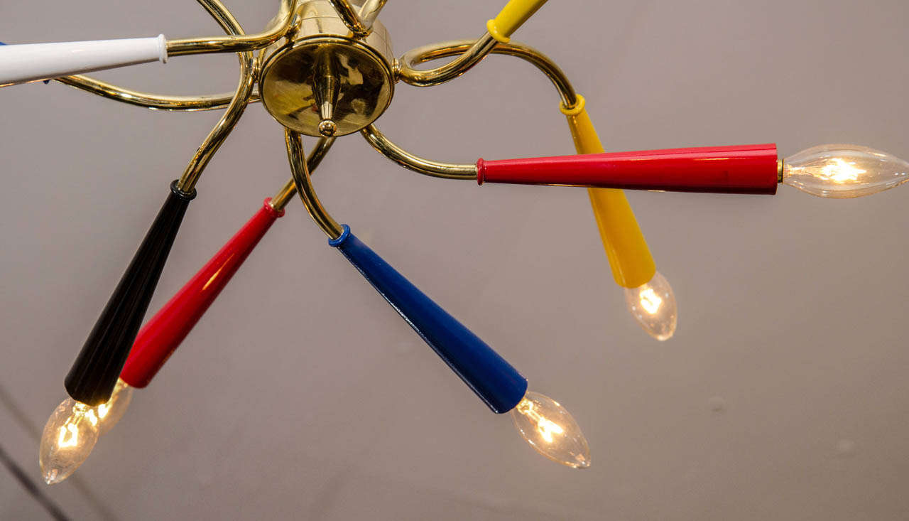 Sculptural Chandelier By Arredoluce In The Manner Of