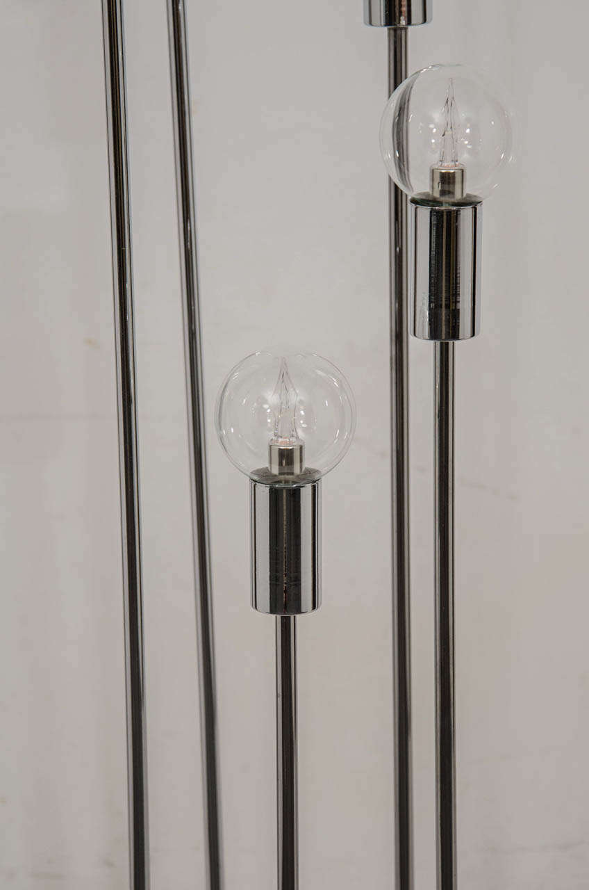 Spiral floor lamp attributed to robert sonneman for sale for Spiral wood floor lamp