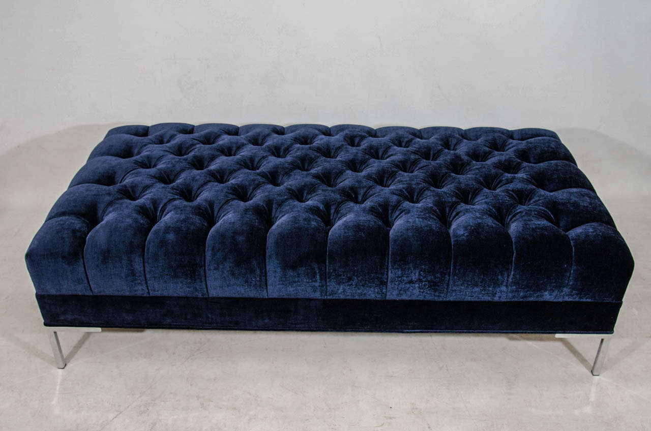 Vintage Tufted Bench or Coffee Table at 1stdibs