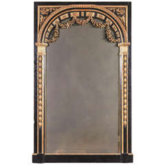 Large French Louis XVI Style Parcel Gilt Mirror
