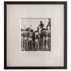 WWII Framed Photograph of US Marines