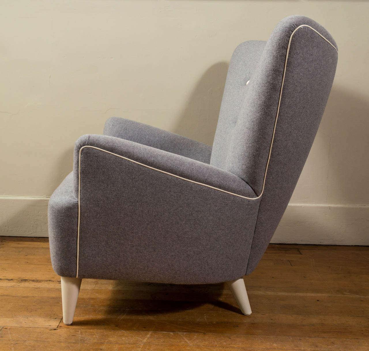 Custom Made Mid-Century Style Armchair at 1stdibs