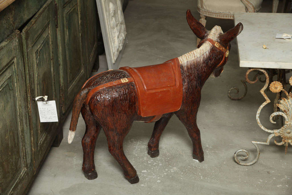 Painted Ceramic Donkey In Good Condition For Sale In Washington, DC
