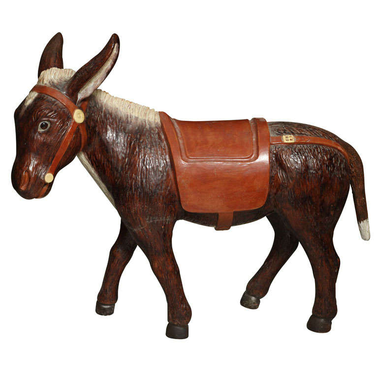 Painted Ceramic Donkey For Sale