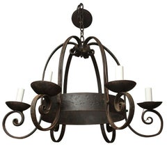 Napoleon III Cast Iron Chandelier