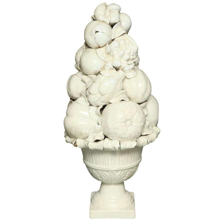 Porcelain Basket of Fruit