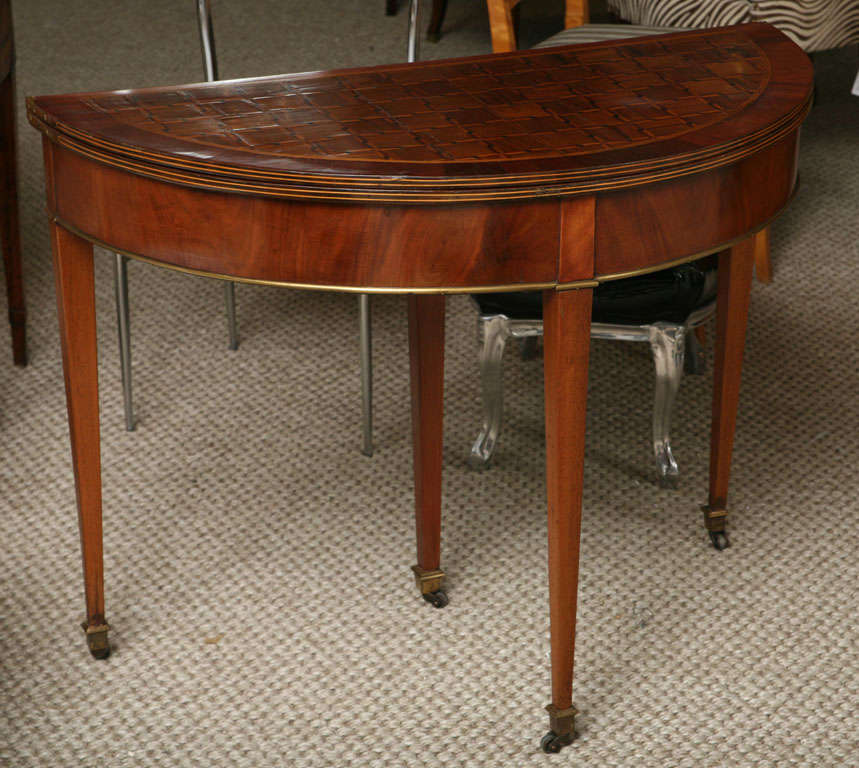 French demi lune games table at 1stdibs - Table cuisine demi lune ...